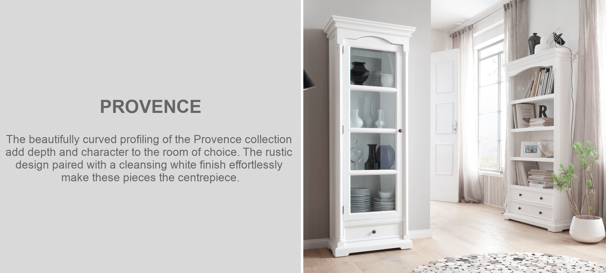 Provence mahogany display cabinet furniture in living room