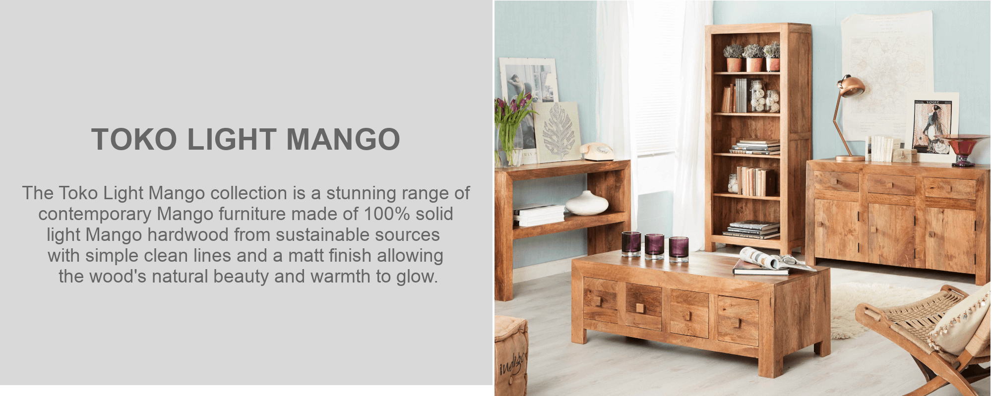 Toko light mango coffee table furniture