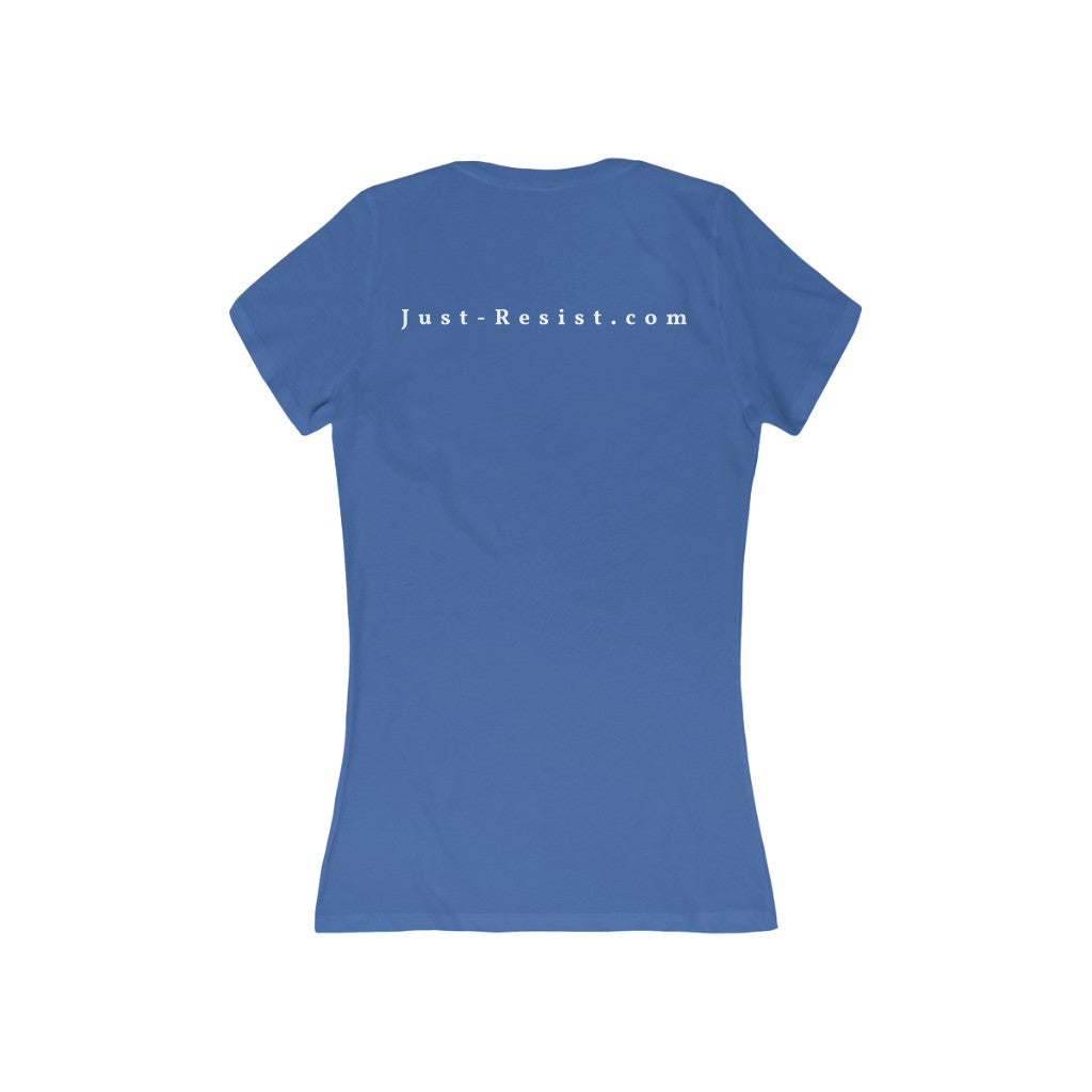 Women's End Racism HTML Code V-Neck Tee