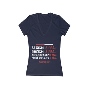 Sexism Is Real Deep V-Neck Tee