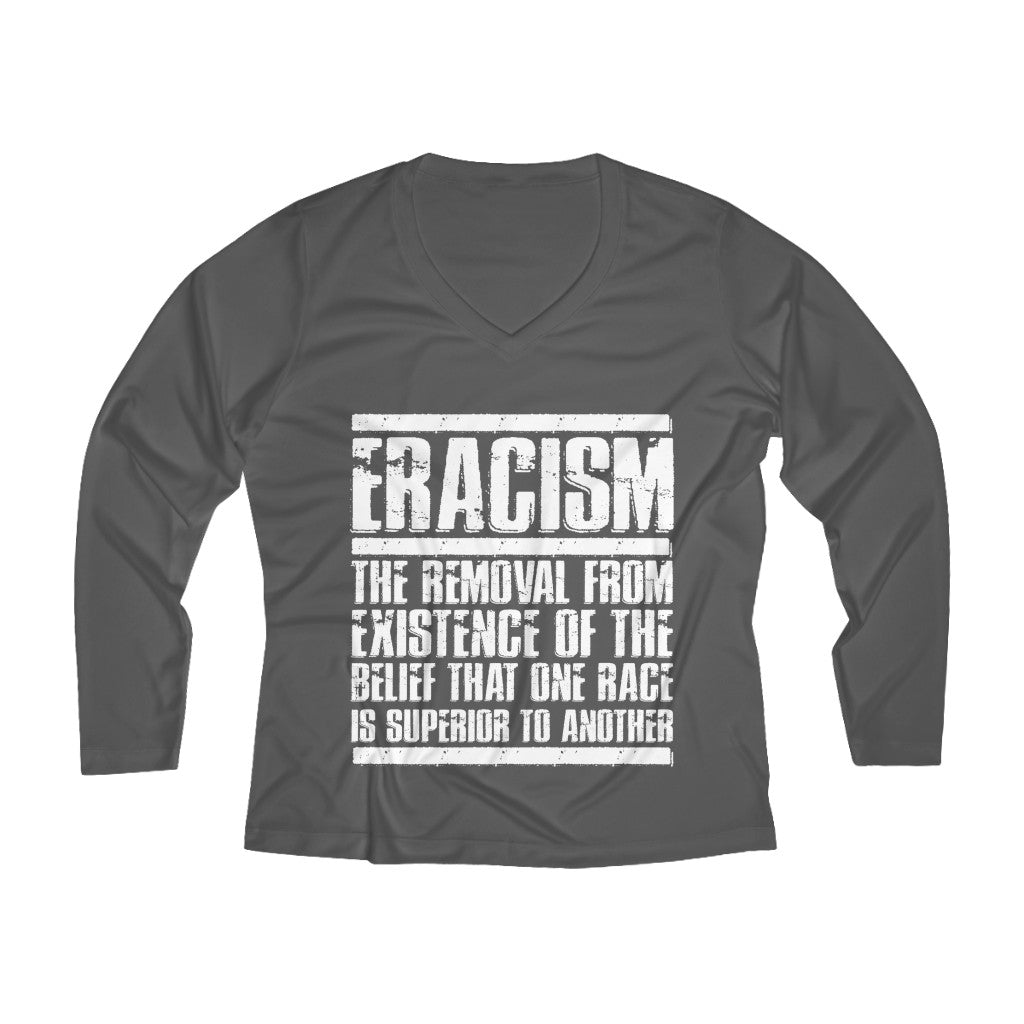 Eracism Long Sleeve V-neck Tee