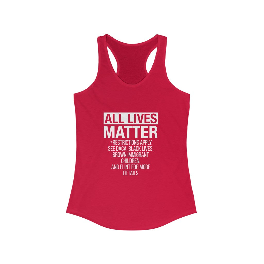 All Lives Matter Racerback Tank