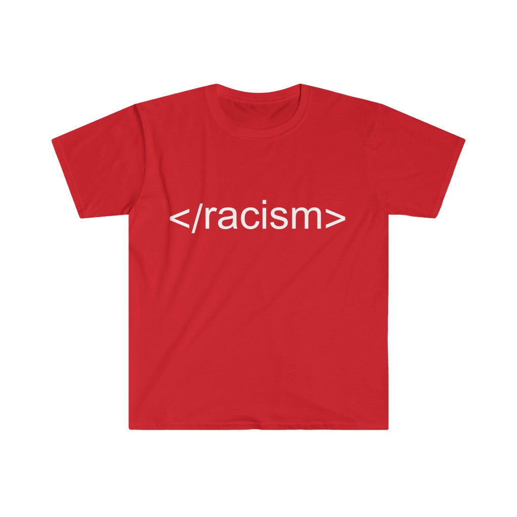 End Racism HTML Code Tee