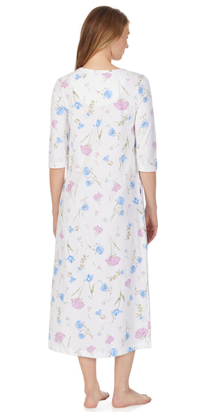 Floral Heritage Jersey Gown - Plus Size