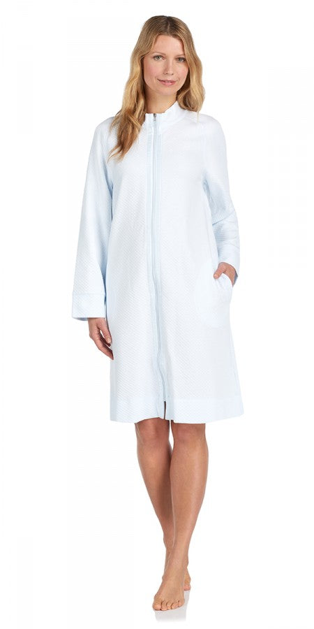 Heritage Short Zip Robe - Lake Blue