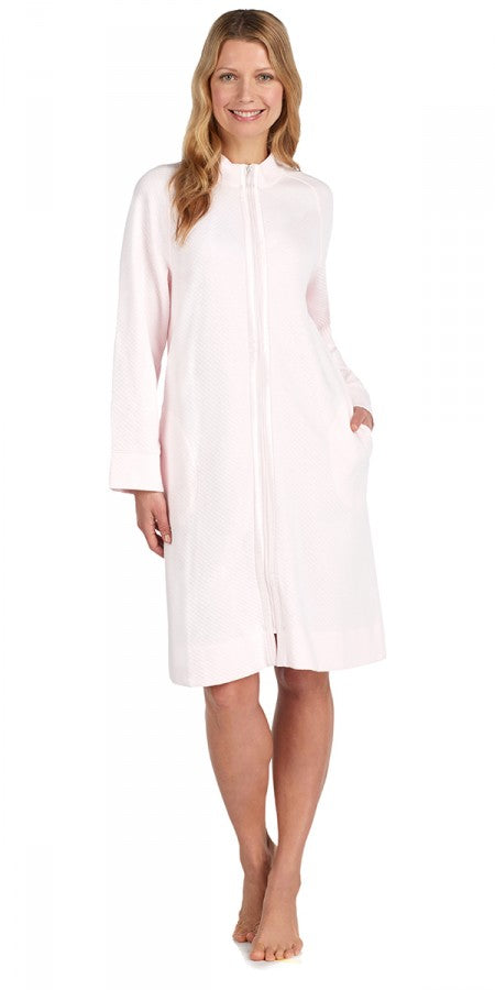 Heritage Short Zip Robe - Pink Puff