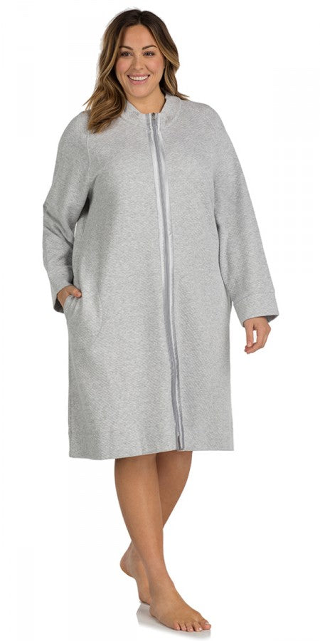 Heritage Short Zip Robe – Grey Heather – PS