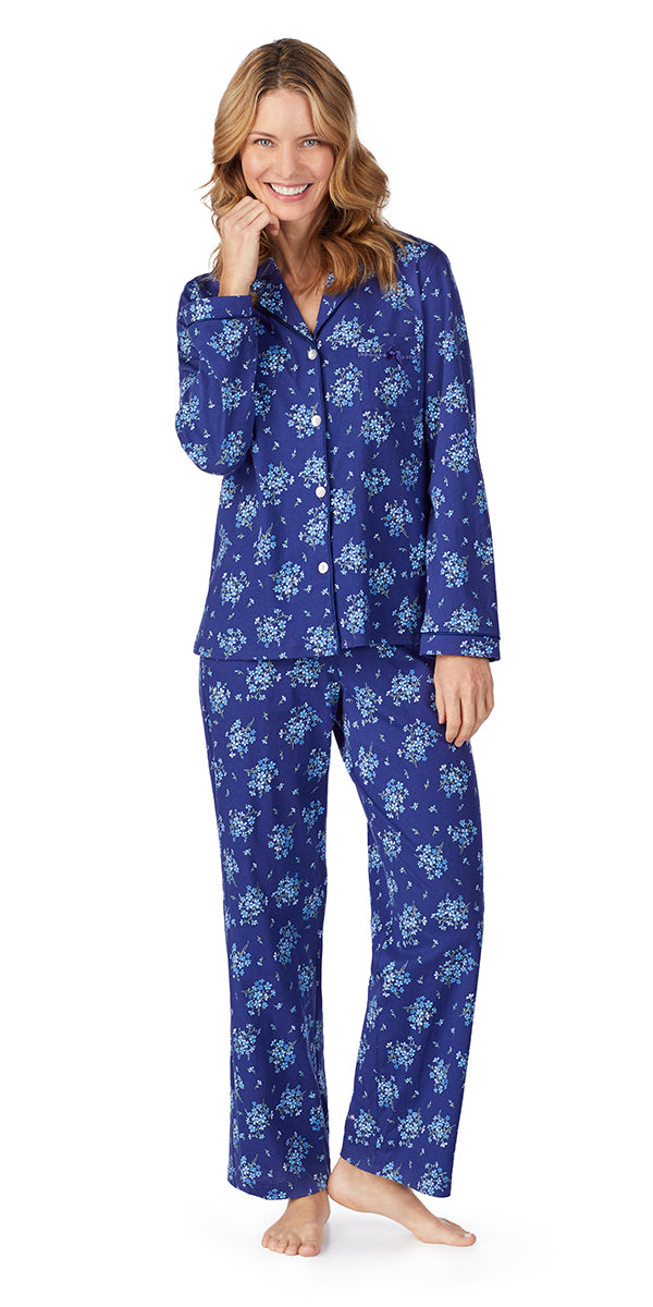 3104cdc7ff Navy Floral Bunches Soft Jersey Long PJ