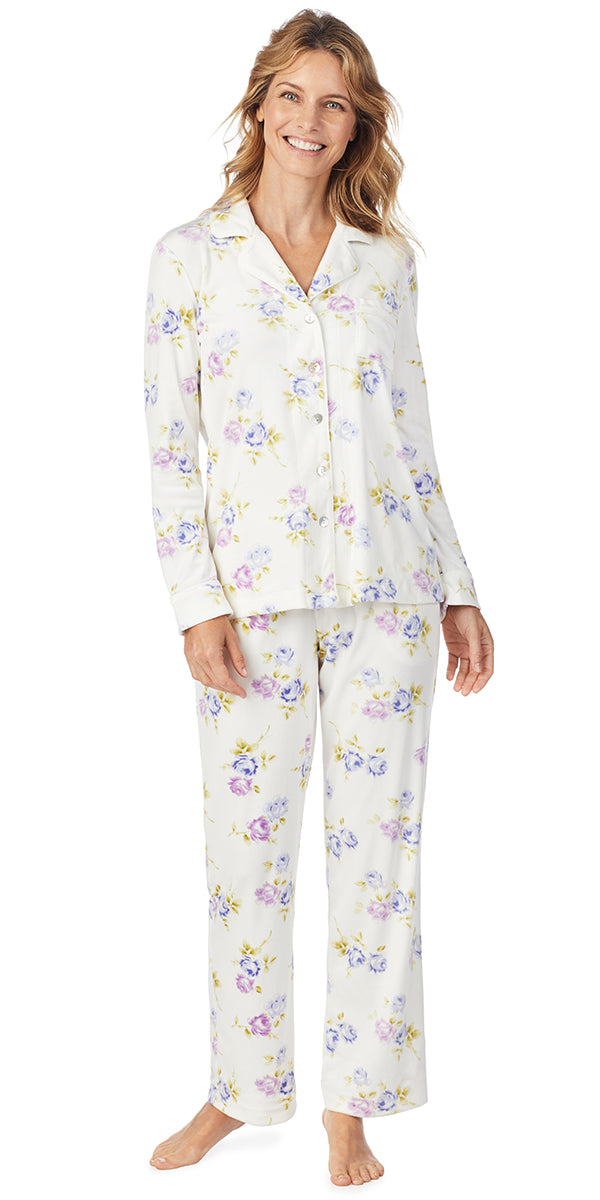 Peri Roses Luxe Cozy Fleece Long PJ
