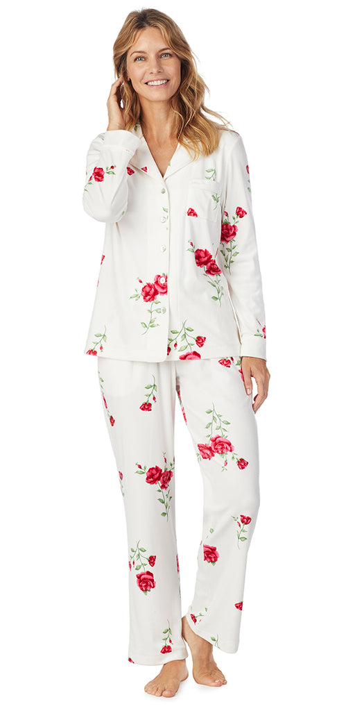 Roses Luxe Cozy Fleece Long PJ
