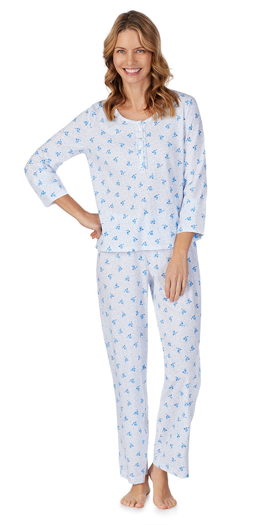 Blue Birds Soft Jersey Long PJ