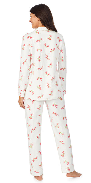 White & Red Berries Fleece Long Sleeve & Long Pant Pj