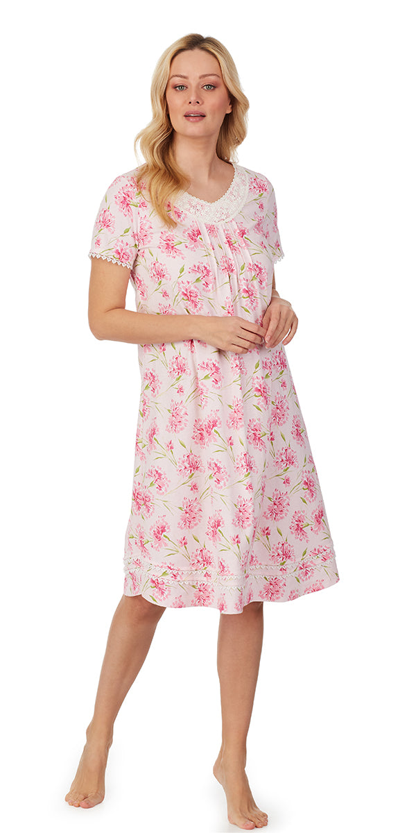 Pink Carnation Waltz Nightgown