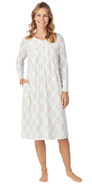 Ivory Damask Luxe Cozy Fleece Waltz Gown