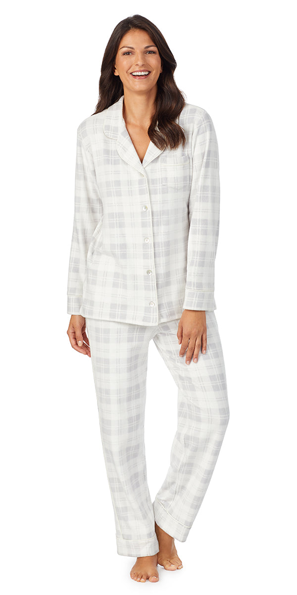 Grey Plaid Fleece Long Sleeve & Long Pant Pj