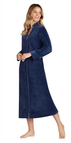 Plush Lux Velour Robe - True Navy