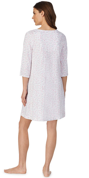 Petite Floral 3/4 sleeve Soft Jersey Nightshirt