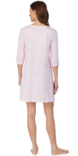 Pink White Floral Soft Jersey Knits Nightshirt