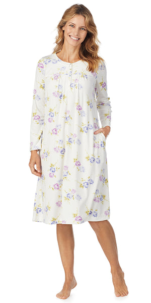 Peri Roses Luxe Cozy Fleece Waltz Gown