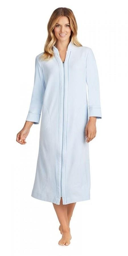 Plus Size Plush Lux Velour Robe - Blue Ice