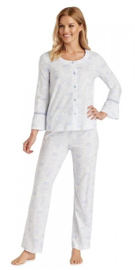 Cotton Jersey Long Pj - Toile