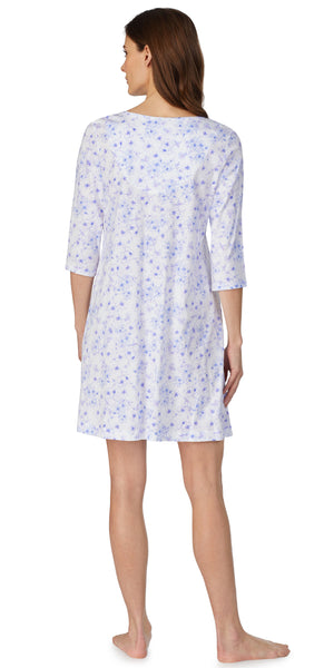 Lilac Floral Soft Jersey Knits Nightshirt