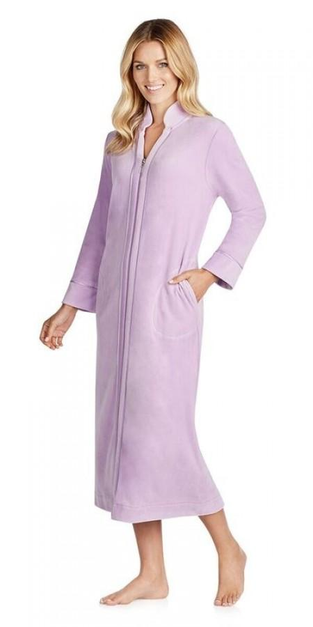 Plus Size Plush Lux Velour Robe - Purple Bud