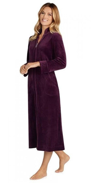 Plush Lux Velour Robe - Deep Plum
