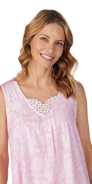 Pink Damask Soft Jersey Short Gown