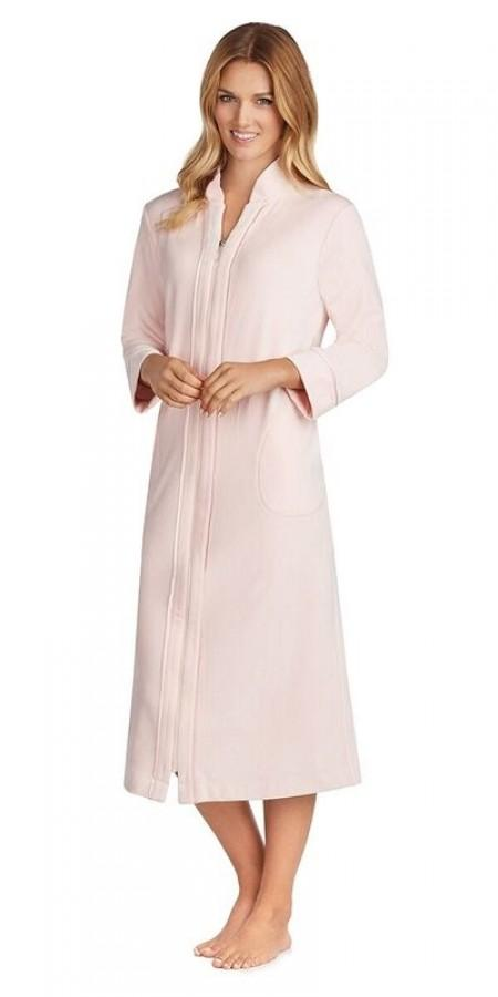 Plus Size Plush Lux Velour Robe - Light Pink