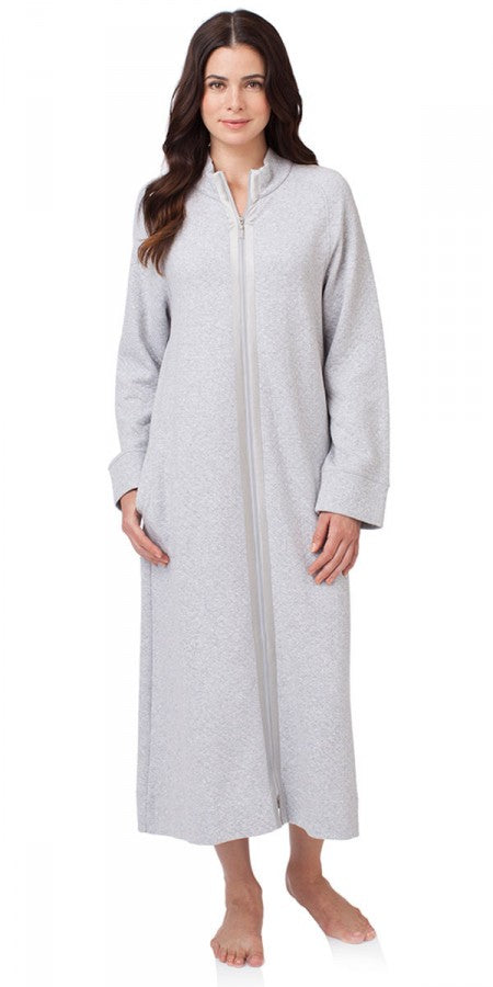 Heritage Long Zip Robe – Grey Heather