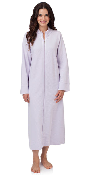 Heritage Long Zip Robe – Lavender Vista