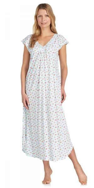 Heritage Long Nightgown - Tropic Ditsy Aqua