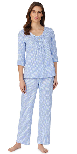 Peri Geo Soft Jersey Knits Long Pj