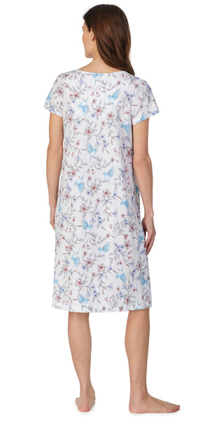 Hummingbird Floral Soft Jersey Knits Gown