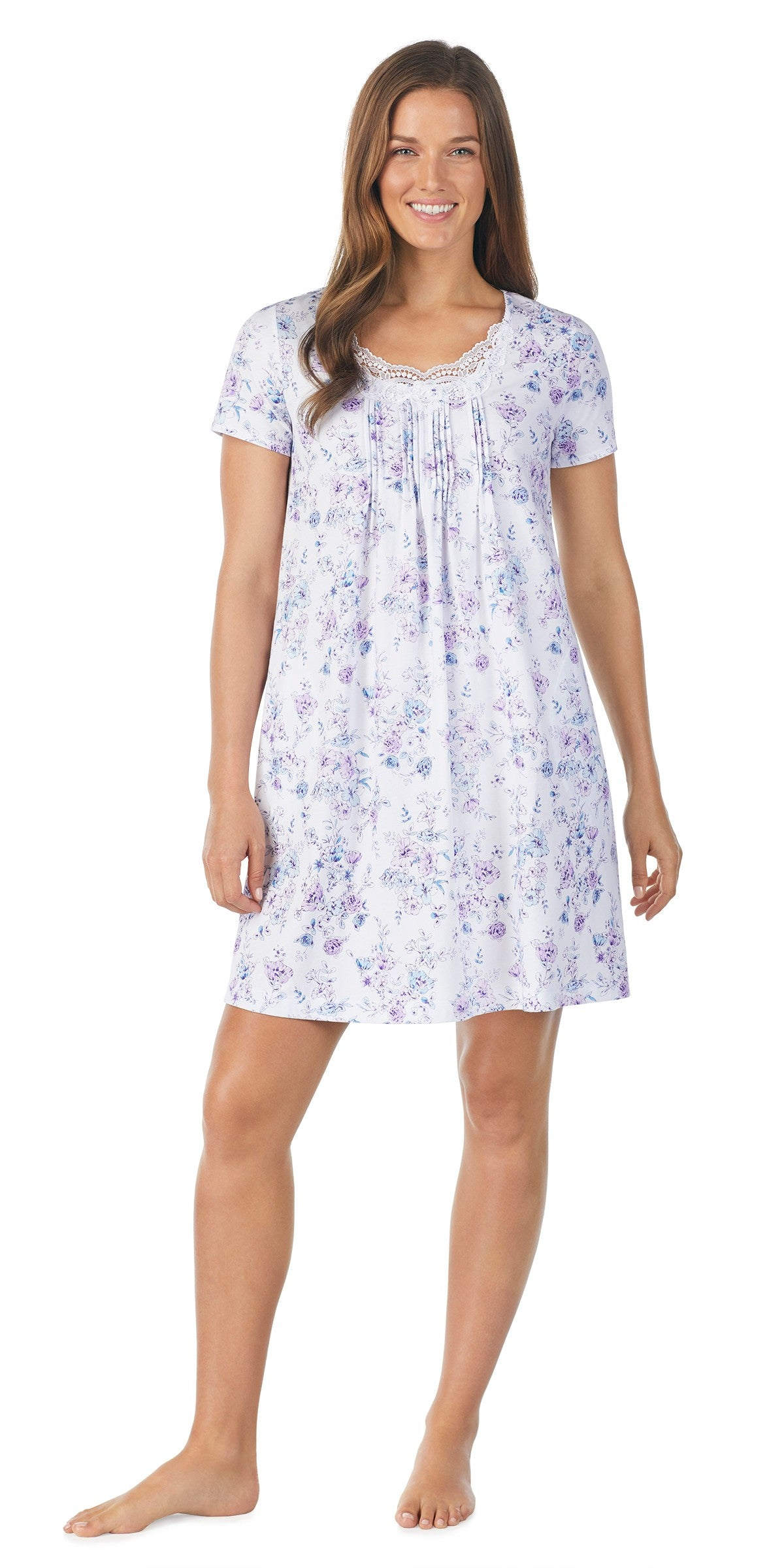 FLORAL SOFT JERSEY CHEMISE