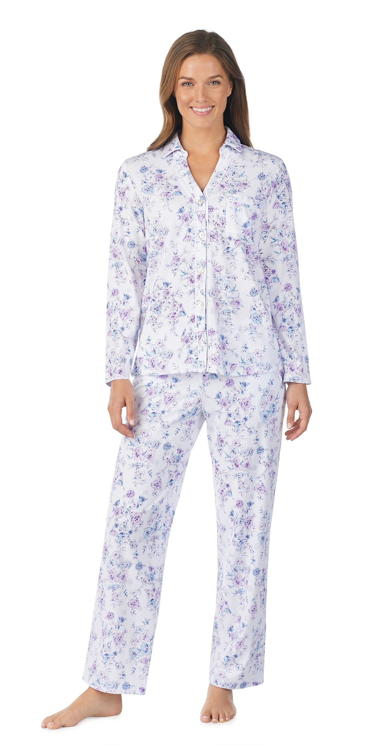 Floral Soft Jersey Long Sleeve Long Pant PJ