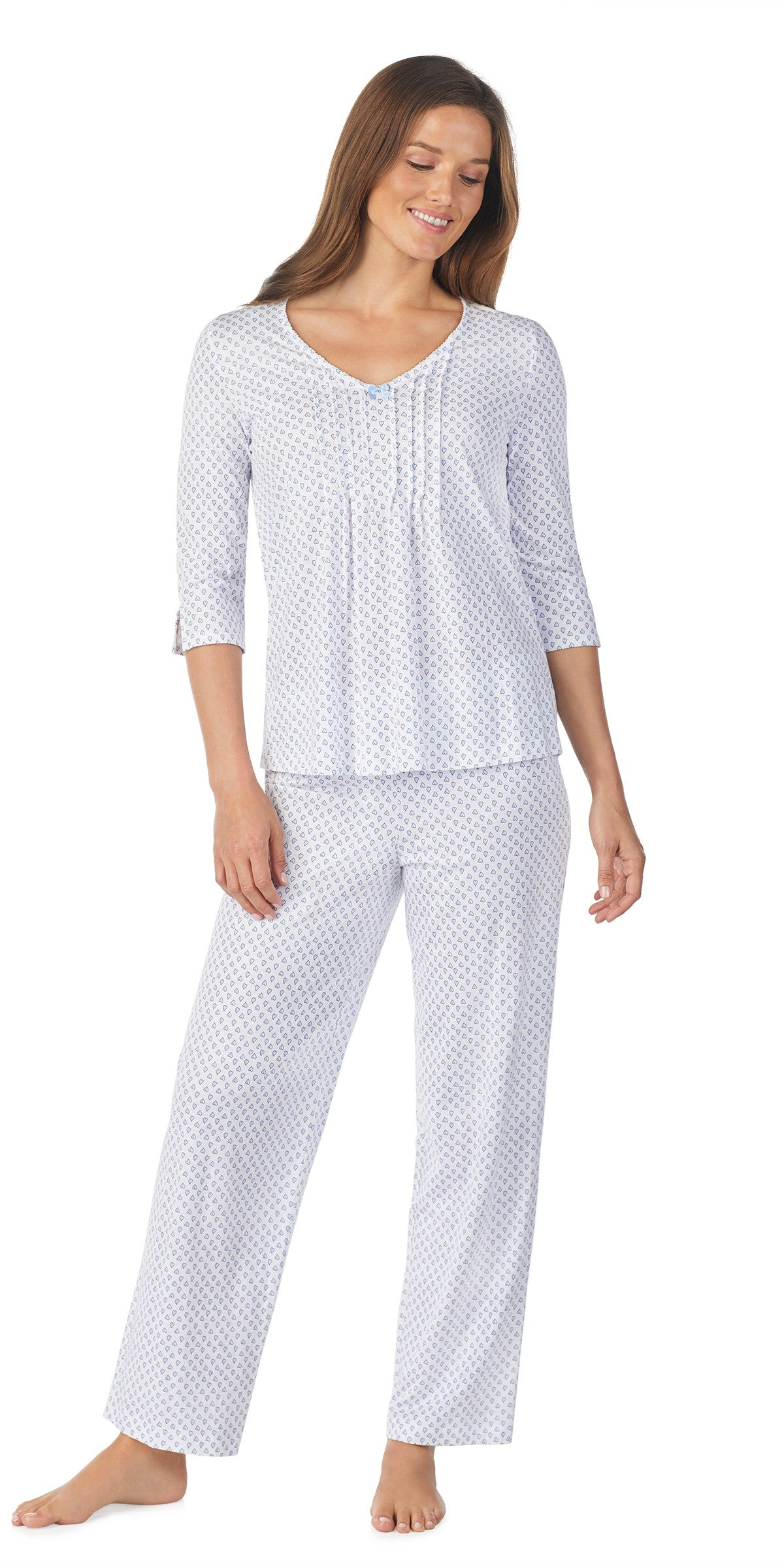 Hearts Soft Jersey 3/4 Sleeve, Long Pant PJ Set
