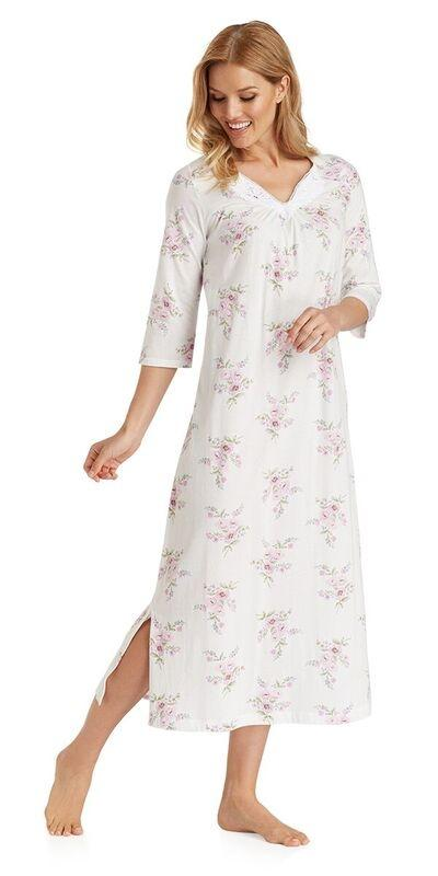 Cotton Jersey Long Gown - Petal Twin
