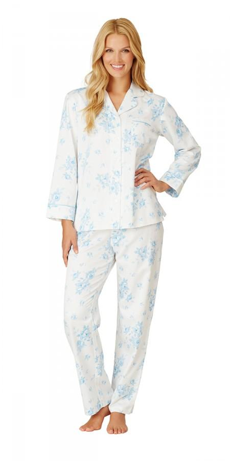 Cascading Floral Ivory Blue