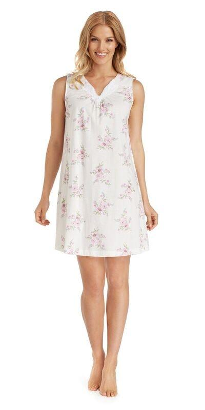Cotton Jersey Chemise - Petal Twin