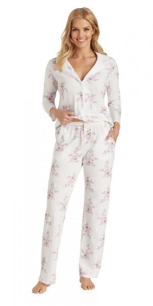 Cotton Jersey Long Pj - Petal Twin