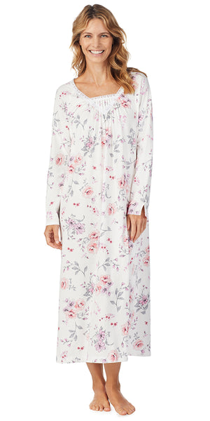Multi Rose Floral Soft Jersey Long Gown