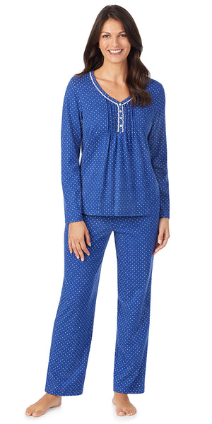 Navy Dot Soft Jersey Long Sleeve & Long Pant Pj