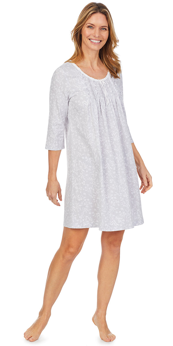 Dreamy Grey Short NIghtgown