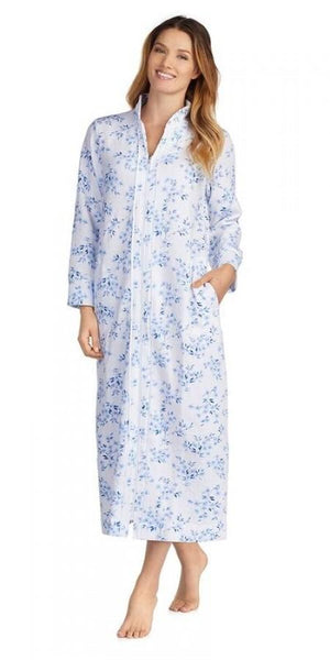 Double Diamond Quilt Long Zip Robe - Floral Twin