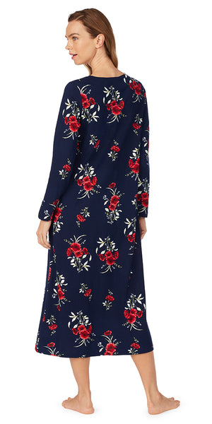 Midnight Floral Long Nightgown