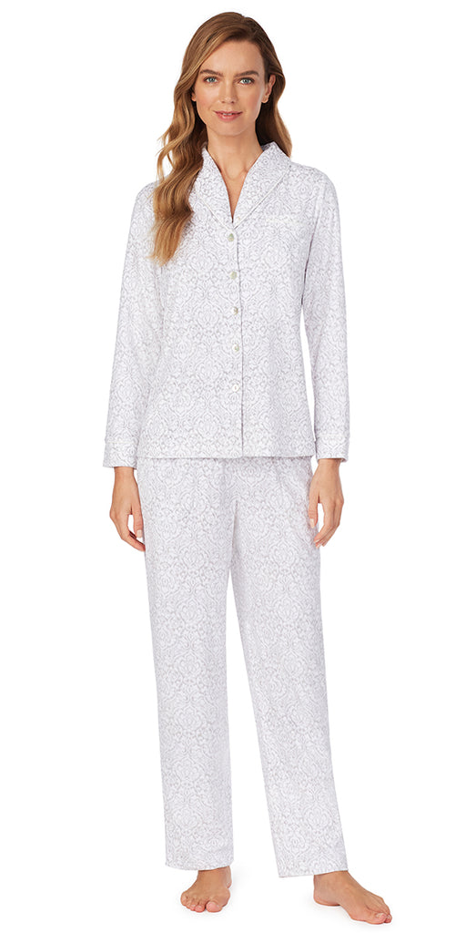 Cozy Damask Fleece Pajama Set