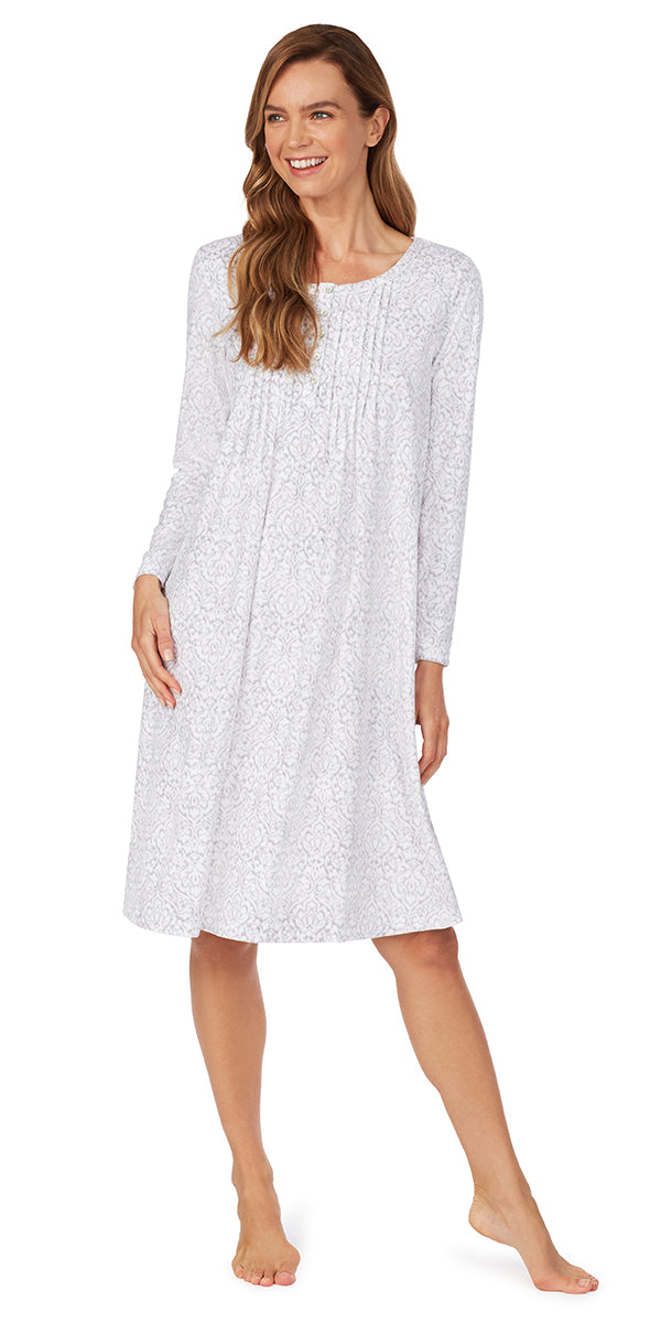 Cozy Damask Fleece Nightgown