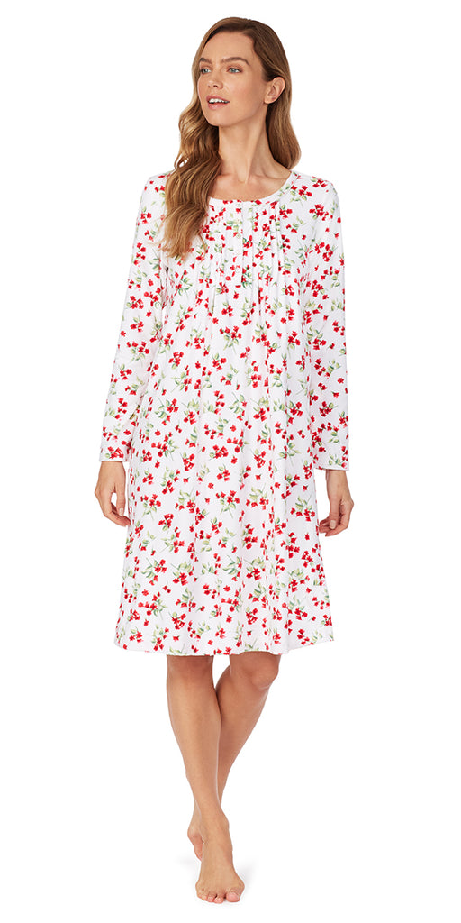 Cozy Holly Berry Fleece Nightgown
